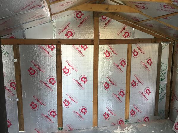 ...and the insulation in place.