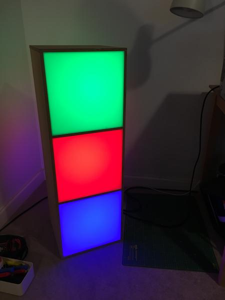 The first RGB test of a stack.
